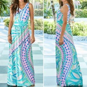 Lilly Pulitzer Marco Maxi Coco Island Engineered